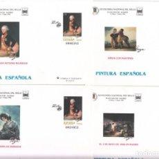 Sellos: 4 SOBRES ENTERO POSTALES - 1996- PINTURA ESPAÑOLA - GOYA -FERIA NACIONAL DEL SELLO MADRID NUM 35. Lote 183486907
