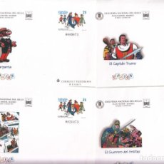 Sellos: 4 SOBRES ENTERO POSTALES - 1997- FERIA NAC. DEL SELLO - COMICS - CARPANTA-CAPITAN TRUENO-NUM- 41. Lote 183488843