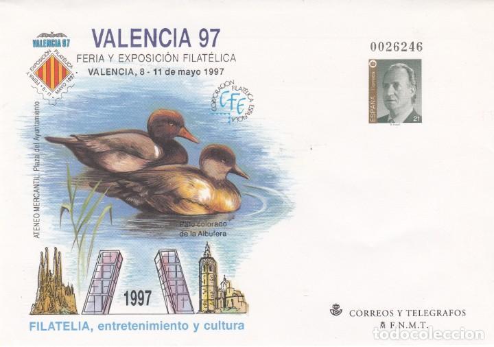 SOBRE ENTERO POSTAL- 1997 VALENCIA 97 NUM. 40 (Sellos - España - Dependencias Postales - Entero Postales)