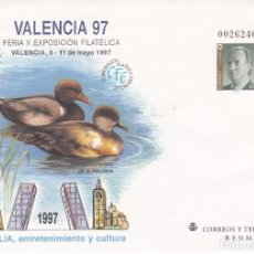Sellos: SOBRE ENTERO POSTAL- 1997 VALENCIA 97 NUM. 40. Lote 183489018