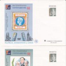 Sellos: 2 SOBRES ENTERO POSTALES - 1997 - CENTENARIO DEL 98 - NUMS. 43 - 44. Lote 183489903