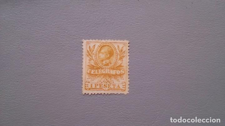 ESPAÑA - 1905 - ALFONSO XIII - TELEGRAFOS - EDIFIL 44 - MH* - NUEVO - BIEN CENTRADO - LUJO. (Sellos - España - Dependencias Postales - Telégrafos)