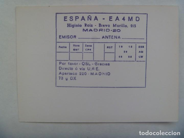 Sellos: ENTERO POSTAL CON SELLO E ILUSTRACION DE MADRID: PLAZA MAYOR. USADA POR RADIOAFICIONADO - Foto 2 - 190570562