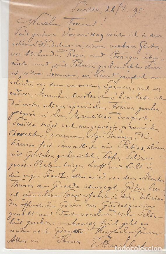 Sellos: E.P.: 0 31 SEVILLA a BERLIN (ALEMANIA). 1895 - Foto 2 - 191468845