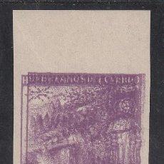 Sellos: HUÉRFANOS DE TELÉGRAFOS, 1938 EDIFIL Nº 19 EDS, /**/, DOBLE IMPRESIÓN, SIN FIJASELLOS,. Lote 191749740