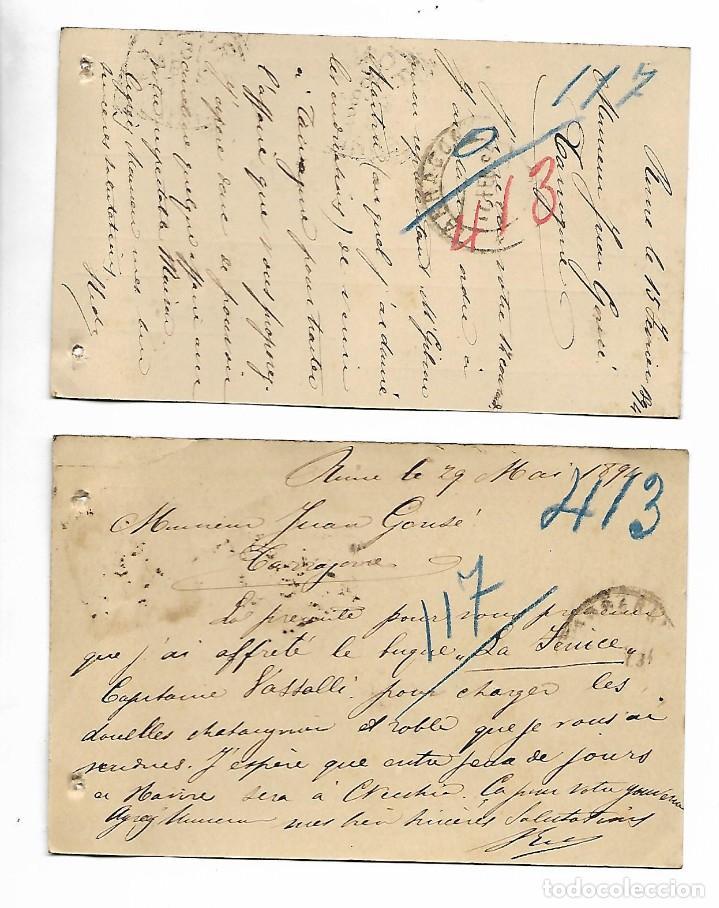Sellos: 2 ENTEROS POSTALES DE ITALIA - ROMA AÑO 1894 - VER FOTOS - Foto 2 - 191894045