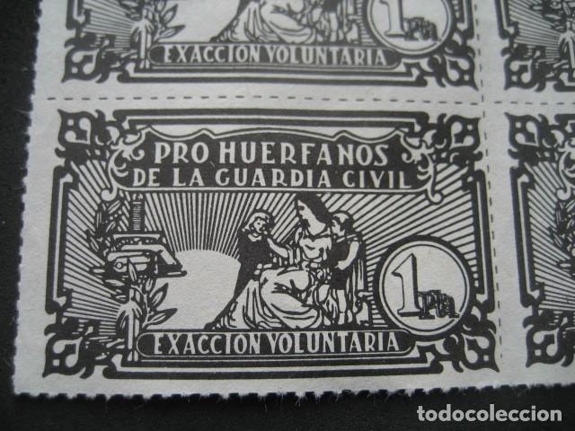 Sellos: 4 VIÑETAS PRO HUERFANOS DE LA GUARDIA CIVIL 1 PTA. EXACCION VOLUNTARIA - Foto 2 - 192233981