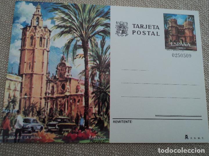 TARJETA ENTERO POSTAL - PLAZA DE LA REINA VALENCIA (Sellos - España - Dependencias Postales - Entero Postales)