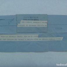 Sellos: TELEGRAMA ENVIADO A SEVILLA , QUIZAS AÑOS 40 O 50. Lote 194543746