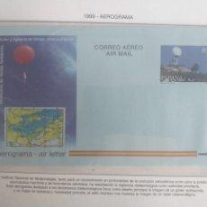 Sellos: SELLOS ESPAÑA AEROGRAMA AÑO 1999 INSTITUTO NACIONAL METEOROLOGÍA CORREO AÉREO SIN CIRCULAR. Lote 228597455