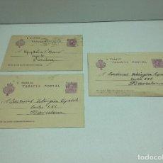 Sellos: LOTE TARJETAS POSTALES CIRCULADAS ALFONSO XIII 15 CTS LETRA U - V - EDITORIAL LITURGICA ESPAÑOLA . Lote 195415682