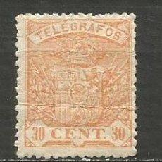 Timbres: ESPAÑA TELEGRAFOS EDIFIL NUM. 58 * NUEVO CON FIJASELLOS --DEFECTO DOBLADO--. Lote 196520852