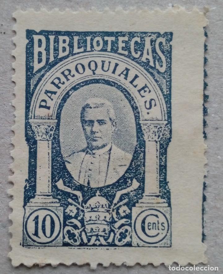 ESPAÑA FISCAL BIBLIOTECAS PARROQUIALES (Sellos - España - Dependencias Postales - Beneficencia)