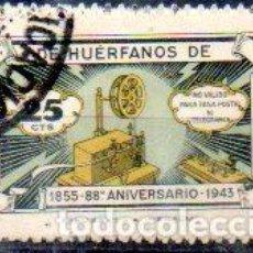 Sellos: ESPAÑA.- COLEGIO DE HUÉRFANOS DE TELÉGRAFOS, 25 CÉNTIMOS, EN USADO. Lote 198129270