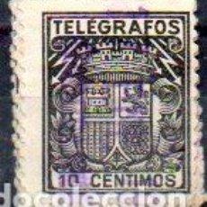Sellos: ESPAÑA.- TELÉGRAFOS, 10 CÉNTIMOS DE PESETA, EN USADO. Lote 215781717