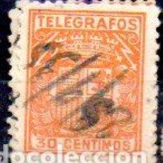 Sellos: ESPAÑA.- TELÉGRAFOS, 30 CÉNTIMOS DE PESETA, EN USADO. Lote 215781628