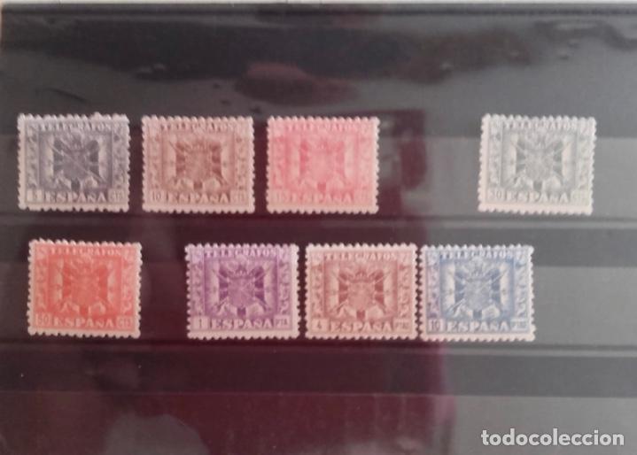 SELLOS- TELEGRAFOS- ESCUDO DE ESPAÑA- LOTE 8 SELLOS EDIFIL Nº 76 A 84 (Sellos - España - Dependencias Postales - Telégrafos)