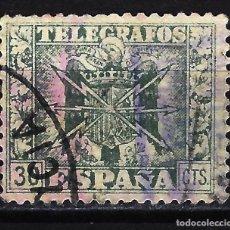 Francobolli: 1949 ESPAÑA ESCUDO DE ESPAÑA TELÉGRAFOS - EDIFIL 88 - USADO. Lote 199408530