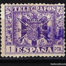 Timbres: 1949 ESPAÑA ESCUDO DE ESPAÑA TELÉGRAFOS - EDIFIL 90 - USADO. Lote 199408708