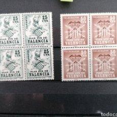 Sellos: ESPAÑA VALENCIA EDIFIL 1/2 BLOQUE DE CUATRO NUEVO ***. Lote 199882310