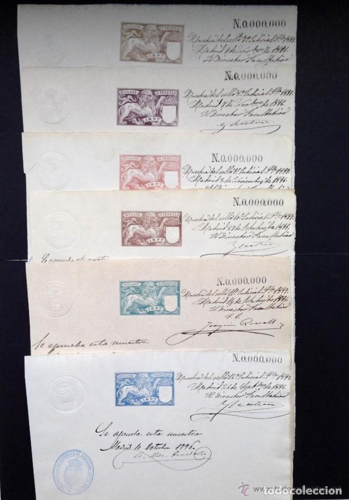 ESPAÑA.AÑO 1897.FISCALES .MUESTRA Nº 0.000.000. (Sellos - España - Dependencias Postales - Telégrafos)