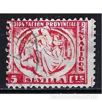 ESPAÑA DIPUTACIÓN PROVINCIAL DE SEVILLA - BENÉFICO DESVALIDOS - USADO (Sellos - España - Dependencias Postales - Beneficencia)