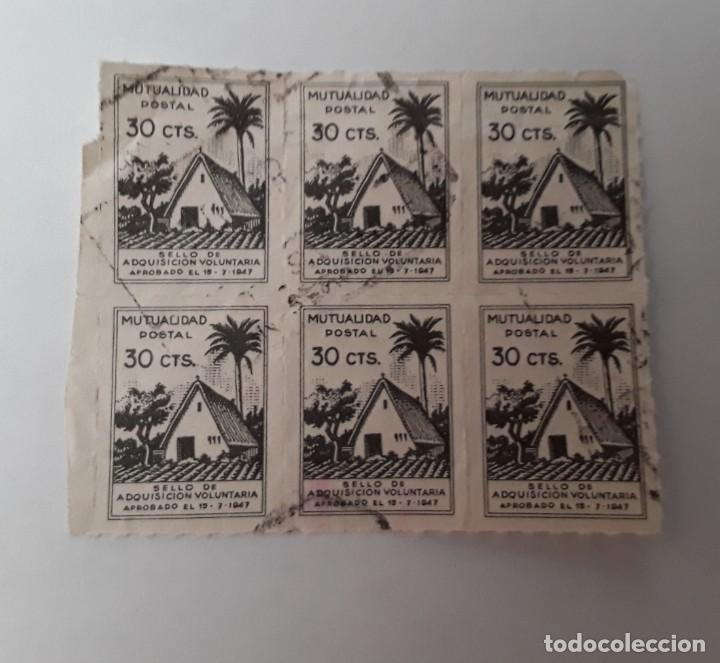 SELLOS MUTUALIDAD POSTAL ADQUISICIÓN VOLUNTARIA 30 CTS 1947 (Sellos - España - Dependencias Postales - Beneficencia)