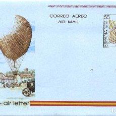 Sellos: ESPAÑA 1990. AEROGRAMAS. CORREO AEREO. EMILIO HERRERA LINARES (1879-1967). INGENIERO MILITAR.. Lote 211616815