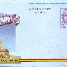Sellos: ESPAÑA 1991. AEROGRAMAS. CORREO AEREO. EDUARDO BARROS Y RAMOS DE SOTOMAYOR (1883-1949) PROYECTISTA.. Lote 211616975