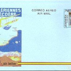 Sellos: ESPAÑA 1995. AEROGRAMAS. CORREO AEREO. 75 ANIVERSARIO DEL CORREO AEREO EN ESPAÑA.. Lote 211617419