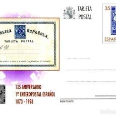 Sellos: ESPAÑA 1998 ENTERO POSTAL EDIFIL Nº 167 TARJETA Y SELLO 5C 1873 NUEVO. Lote 211829653