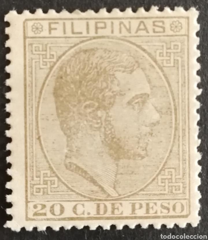 FILIPINAS N°65 MH*(FOTOGRAFÍA REAL) (Sellos - España - Dependencias Postales - Beneficencia)