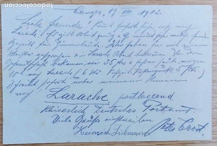 Sellos: MARRUECOS ESPAÑOL ENTERO POSTAL LAIZ 53 MEDALLON, 1913 DE TANGER A CEUTA CONSULADO DE ALEMANIA - Foto 2 - 223715426