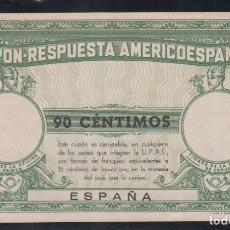 Timbres: ESPAÑA, CUPÓN - RESPUESTA AMERICOESPAÑOL, 90 CÉNTIMOS.. Lote 231246455