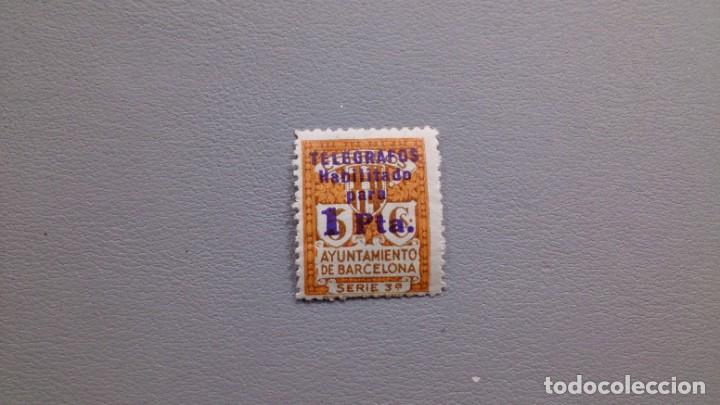 ESPAÑA - 1934 - II REPUBLICA - BARCELONA TELEGRAFOS - EDIFIL 7 - MNH** - NUEVO. (Sellos - España - Dependencias Postales - Telégrafos)