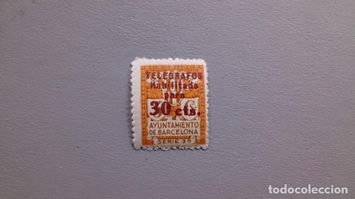ESPAÑA - 1934 - II REPUBLICA - BARCELONA TELEGRAFOS - EDIFIL 6 - MH* - NUEVO - MARQUILLADO. (Sellos - España - Dependencias Postales - Telégrafos)