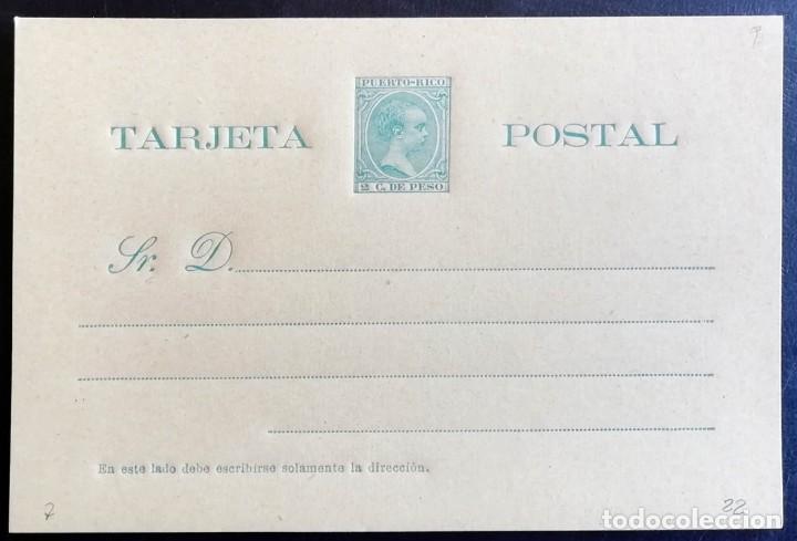 1896, PUERTO RICO, 2 CENTAVOS, ENTERO POSTAL, EDIFIL 7 (Sellos - España - Dependencias Postales - Entero Postales)