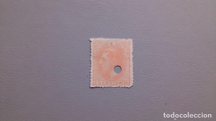 ESPAÑA - 1882 - ALFONSO XII - TELEGRAFOS - EDIFIL 210T. (Sellos - España - Dependencias Postales - Telégrafos)
