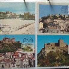 Sellos: LOTE DE 50 POSTALES MAXIMAS CASTILLOS DE PORTUGAL. TODAS LAS QUE SE MUESTRAN EN LAS FOTOGRAFIAS. Lote 247439425