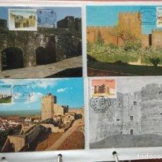 Selos: LOTE DE 42 POSTALES MAXIMAS CASTILLOS DE PORTUGAL. TODAS LAS QUE SE MUESTRAN EN LAS FOTOGRAFIAS. Lote 247439425
