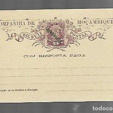Selos: ENTERO POSTAL. MOZAMBIQUE. 10 REIS. CON RESPUESTA PAGADA. SOBRECARGA DE REPÚBLICA. VER FOTO. Lote 260656925