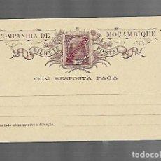 Selos: ENTERO POSTAL. MOZAMBIQUE. 10 REIS. CON RESPUESTA PAGADA. SOBRECARGA DE REPÚBLICA. VER FOTO. Lote 260657165