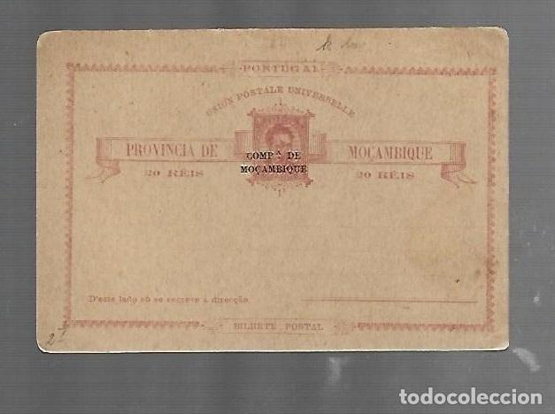 ENTERO POSTAL. MOZAMBIQUE. 20 REIS. SOBRECARGA DE COMPAÑÍA DE MOZAMBIQUE. VER FOTOS (Sellos - España - Dependencias Postales - Entero Postales)