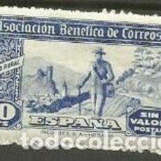 Sellos: BENEFICENCIA ASOCIACION BENEFICA CORREOS CARTRERO RURAL SELLOS ESPAÑA 1940. Lote 262105705