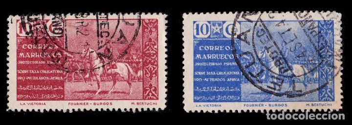 Sellos: MARRUECOS BENEFICENCIA.1941.Pro Mutilados Guerra.Serie Usado.Edifil 13-16 - Foto 3 - 262707835