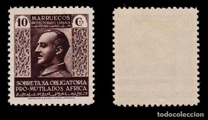 Sellos: MARRUECOS BENEFICENCIA.1937-39.Pro Mutilados Guerra.10c MH.Edifil 1 - Foto 2 - 262742270