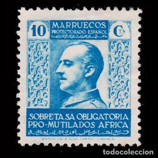 MARRUECOS BENEFICENCIA.1937-39.PRO MUTILADOS GUERRA.10C MNG.EDIFIL 2 (Sellos - España - Dependencias Postales - Beneficencia)