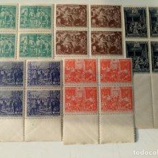 Sellos: BENEFICENCIA DEL AÑO 1938 EN BL4 EDIFIL 29/33 EN NUEVO**. Lote 267204729