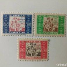 Sellos: BENEFICENCIA DEL AÑO 1937 EDIFIL 9/11 EN NUEVO**. Lote 267605334