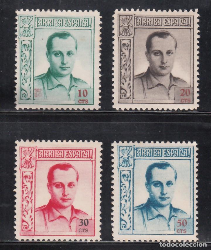 BENEFICENCIA, 1937 EDIFIL Nº NE 14 / NE 18 /*/, JOSÉ ANTONIO PRIMO DE RIVERA, (Sellos - España - Dependencias Postales - Beneficencia)